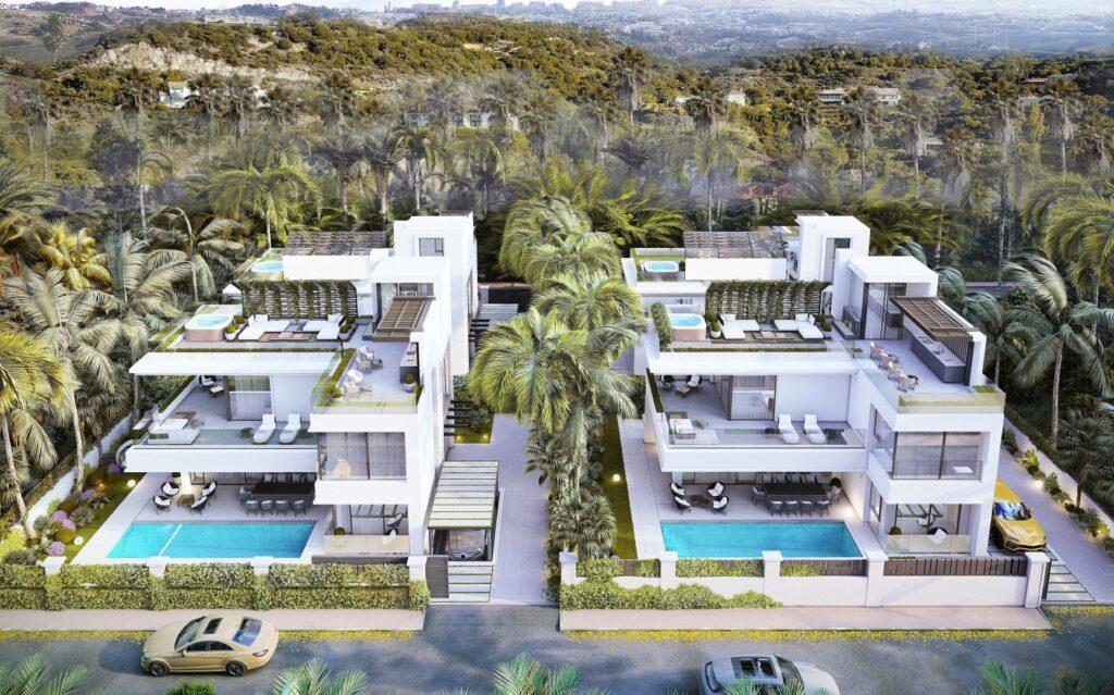 3 detached  villas