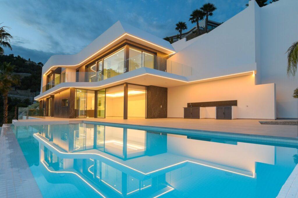 Modern brand new villa with fantastic sea views in Benissa - Spain